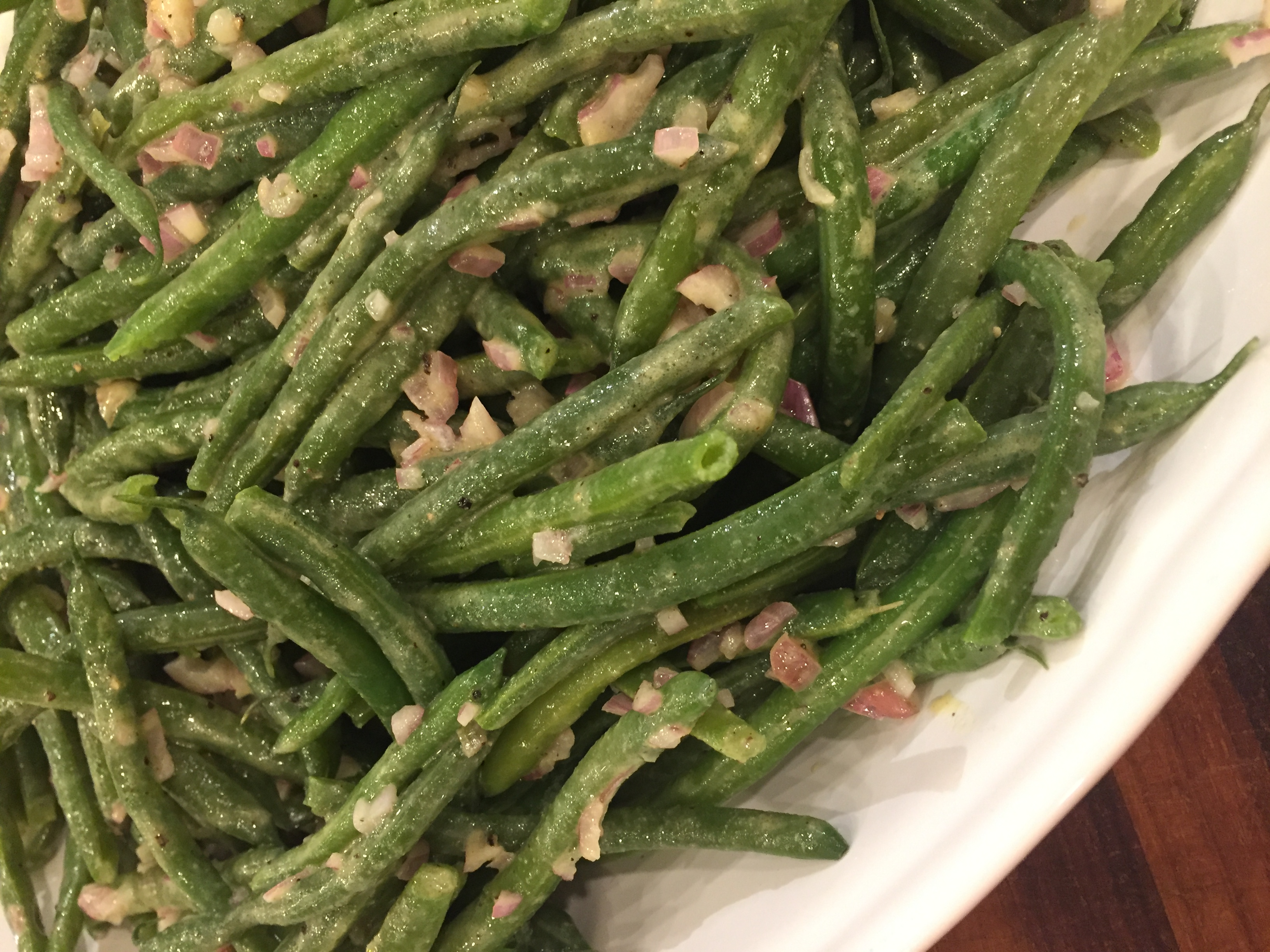Green Beans with Shallot Vinaigrette