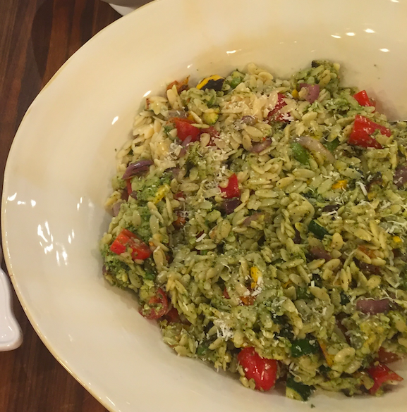 Grilled Vegetable Salad with Orzo and Herb Pesto Vinaigrette ...